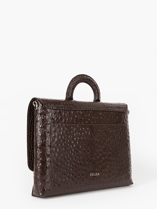 KELLEN 2920 brown ostric croc