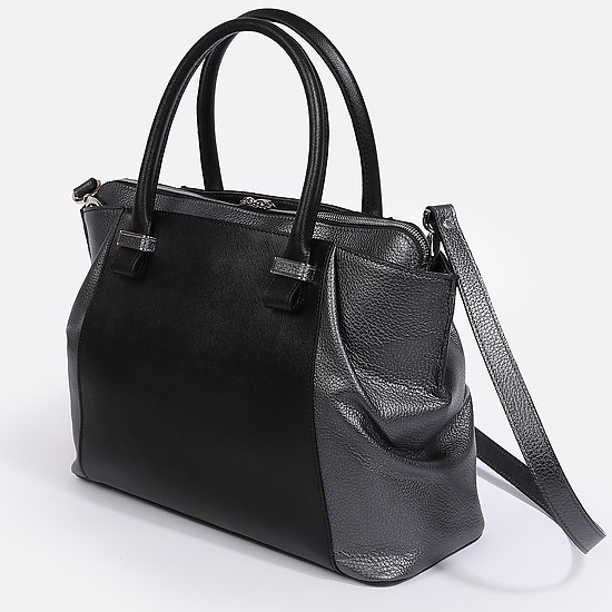 Deboro 3078 saffiano black grey metall