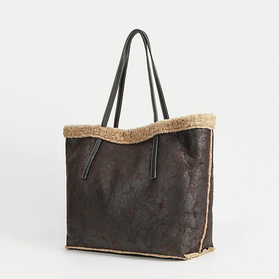 Gianni Notaro 308 dark brown beige fur
