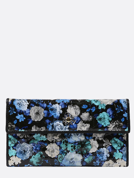 Кошелек Sergio Valentini 3277-013 black blue flowers