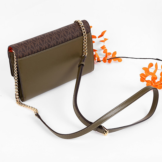 Сумки через плечо Michael Kors 32F7GSLF3B olive orange