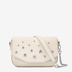 32ced6ba0779 ... Небольшая кожаная сумочка кросс-боди в светло-бежевом цвете со звездами  Deboro 3369 light