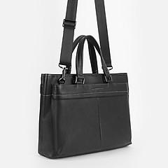39daca02e6cd ... Мужская черная кожаная сумка для документов Alessandro Beato  349-4F-5952 black