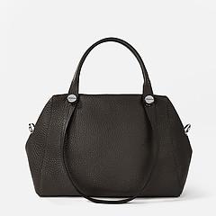ebaf9a34888b Классическая сумка Deboro 3537 brown grey Классическая сумка Deboro 3537  brown grey