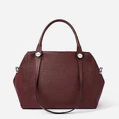 b97277f39c60 ... Бордовая кожаная сумка-тоут с двумя парами ручек Deboro 3537 marsala
