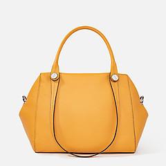 65fa98b2c8dc ... Горчичная кожаная сумка-тоут с двумя парами ручек Deboro 3537 mustard