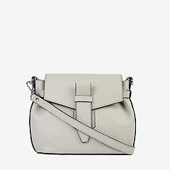 ab302b0db333 ... Светло-серая кожаная сумочка-кросс-боди в минималистичном дизайне  Deboro 3595 light grey