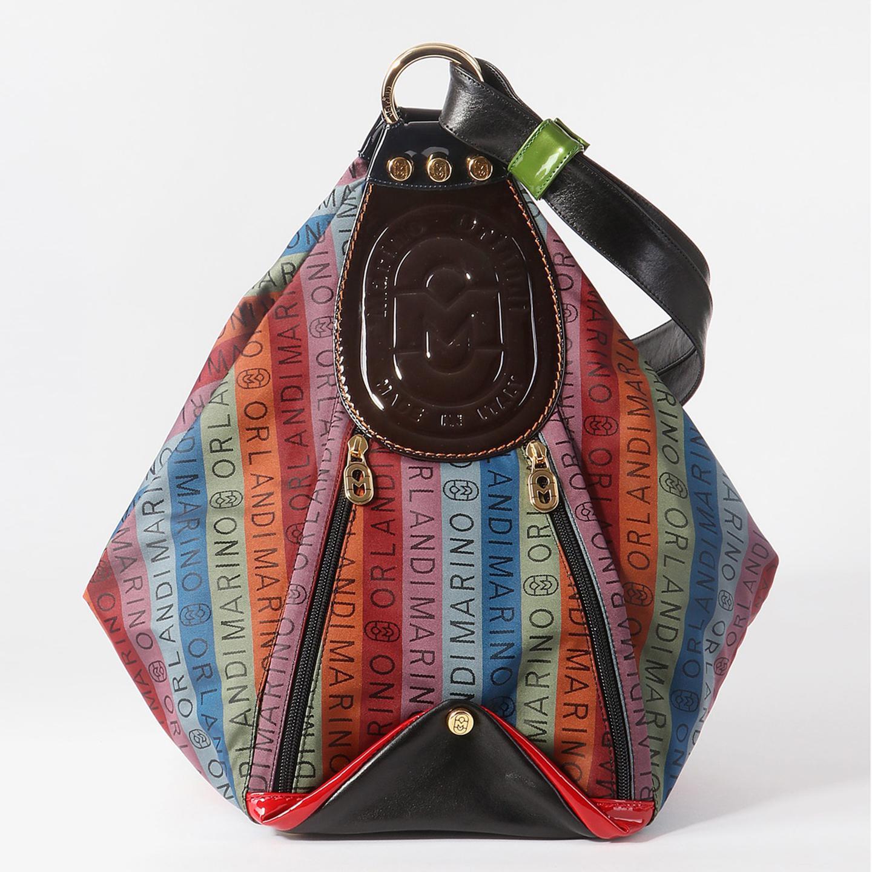 ef8d93d50a7e Текстильная сумка-рюкзак с логотипом бренда Marino Orlandi Женские  классические сумки ...