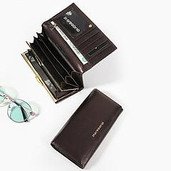 95267073006d ... Классический бумажник из темно-коричневой кожи с эффектом металлик Di  Gregorio 3631 P brown metallic