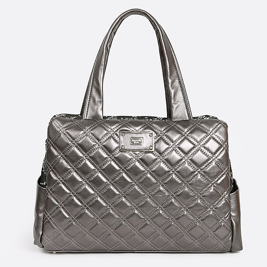 Классические сумки Alessandro Beato 379-5370-5308 silver grey metallic