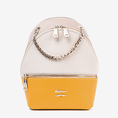 51229b1eeb93 ... Бежевый кожаный рюкзак в стиле колор-блок Marina Creazioni 3957 0760  beige yellow
