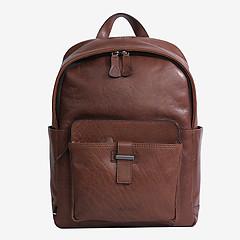 4a4ec99d38c1 ... Мужской кожаный рюкзак среднего размера в коричневом цвете Strellson  4010002569 703 cognac