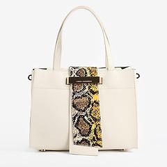 3973c49b3c66 ... Классическая сумка с дерзким декором Carlo Salvatelli 401 white python