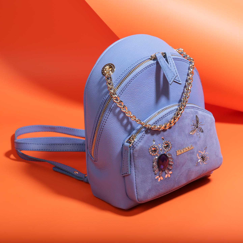 03080b73f3d8 Небольшой синий рюкзак с ручкой-цепочкой – Италия, синего цвета ...