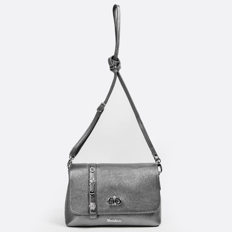 купить сумку кросс боди серебряного цвета