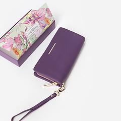 d88021e05a54 ... Фиолетовый кожаный кошелек-клатч на молнии Alessandro Beato 47-30-4052  violet