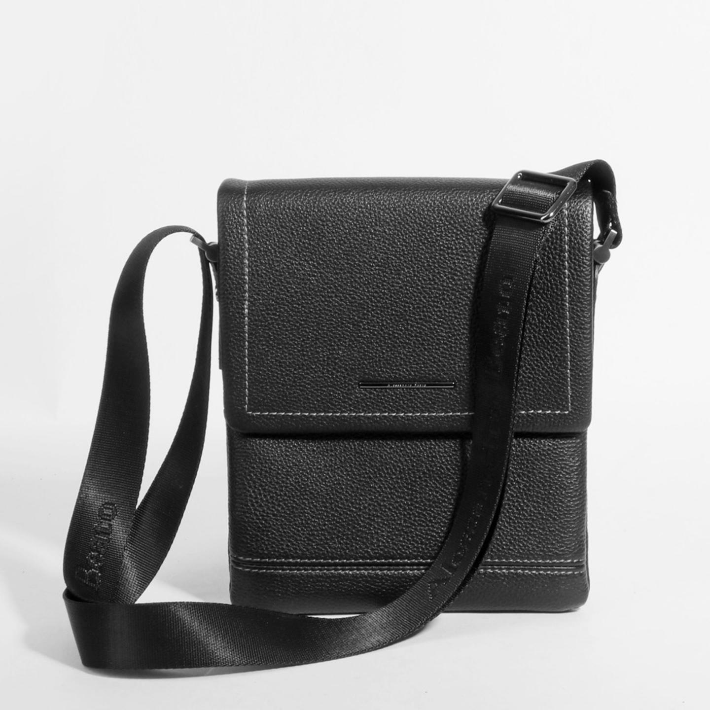 41d6e628b10e Чераная мужская сумка-планшет из натуральной кожи Alessandro Beato ...