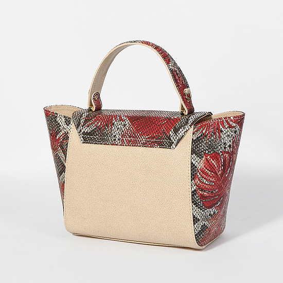 Lucia Lombardi 503 beige red python