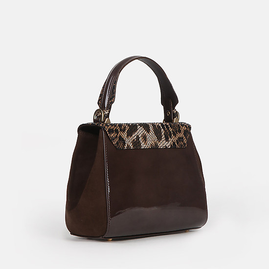 Lucia Lombardi 509 brown gloss leopard