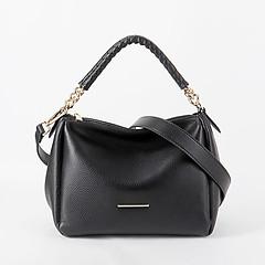 5c8218960714 ... Черная компактная кожаная сумка на плетеном ремешке с цепочкой  Alessandro Beato 510-XH01 black