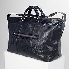eac449056011 ... Синяя мужская дорожная сумка-трапеция из кожи с тиснением буффало Tony  Bellucci 5111-894