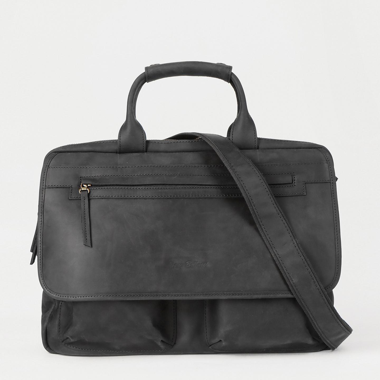 e2cbe07d58af Мужская сумка для деловых будней и путешествий из черного нубука с  винтажным эффектом Tony Bellucci ...