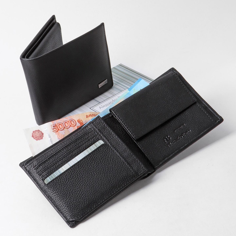 235615f35a0c Компактный мужской кошелек из натуральной кожи Alessandro Beato ...