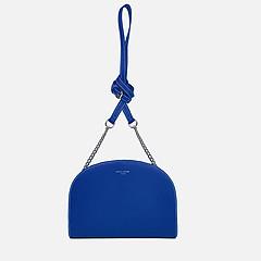 2a031f54bbbb ... Полукруглая сумочка-кросс-боди из экокожи в синем цвете David Jones  6002-1