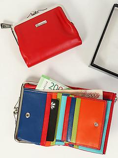 148a28559aa3 ... Разноцветный кожаный кошелек в ретро стиле Di Gregorio 6025 E red  multicolor