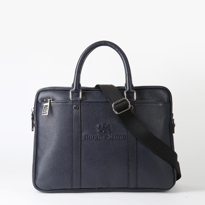 f816a4852b66 Мужская кожаная деловая сумка синего цвета – Италия, синего цвета ...