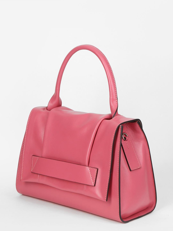 Элегантная сумка - трапеция – Италия, розового цвета, натуральная ... dc39ada2900