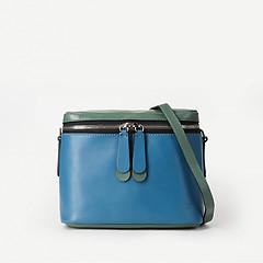 2da6e36213f9 ... Сумка-коробка из голубой и зеленой кожи Gianni Chiarini 6586 blue green