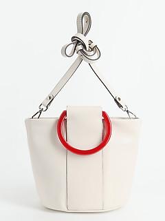 0e2b2b92b739 ... Белая кожаная сумочка с контрастными пластиковыми ручками Gianni  Chiarini 6860 milk