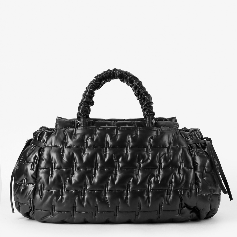 Стеганная болоньевая сумка с дополнительными кожаными ручками Roberta  Gandolfi ... 888fb165f32