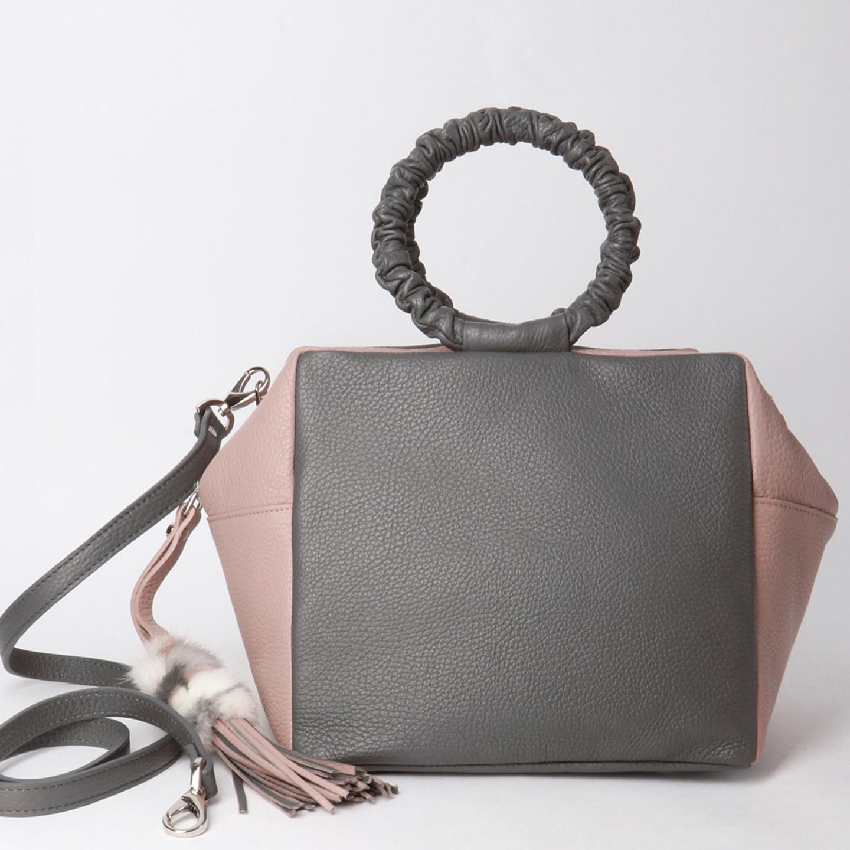 6b613582f63d Объемная сумка из мягкой кожи с круглыми ручками Roberta Gandolfi ...