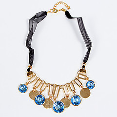 Женское колье Fashion Jewelry 720084_1 gold blue
