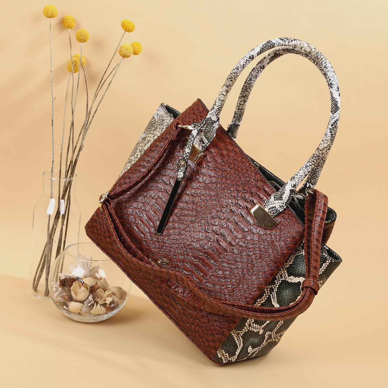 5401ee65f2a4 Классическая сумка Richezza 7265-2 brown green python – Китай ...