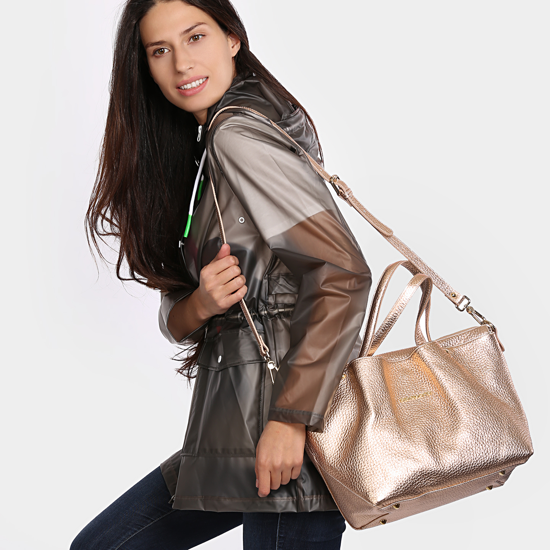 531c9d012e3c Кожаная сумка в цвете розовое золото – Италия, золотого цвета ...