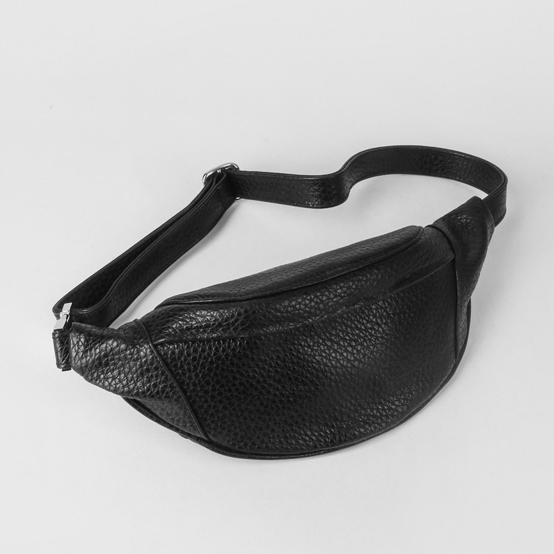 afec73423d11 Черная поясная сумка из кожи – Италия, черного цвета, натуральная ...
