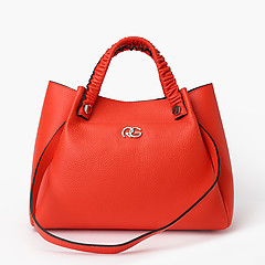 66ae1b2eb891 ... Коралловая кожаная сумка-тоут с четырьмя ручками Roberta Gandolfi 8160  coral