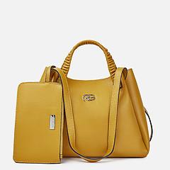 987873d28ee6 ... Горчичная кожаная сумка-тоут с четырьмя ручками Roberta Gandolfi 8160  mustard