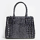Di Gregorio 8547 black gradient croco