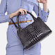 Di Gregorio 8621 black gradient croco