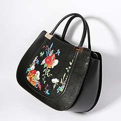 Ripani 8701 flowers black
