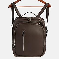 152cc6406d93 ... Деловой кожаный рюкзак коричневого цвета Acquanegra 870F brown