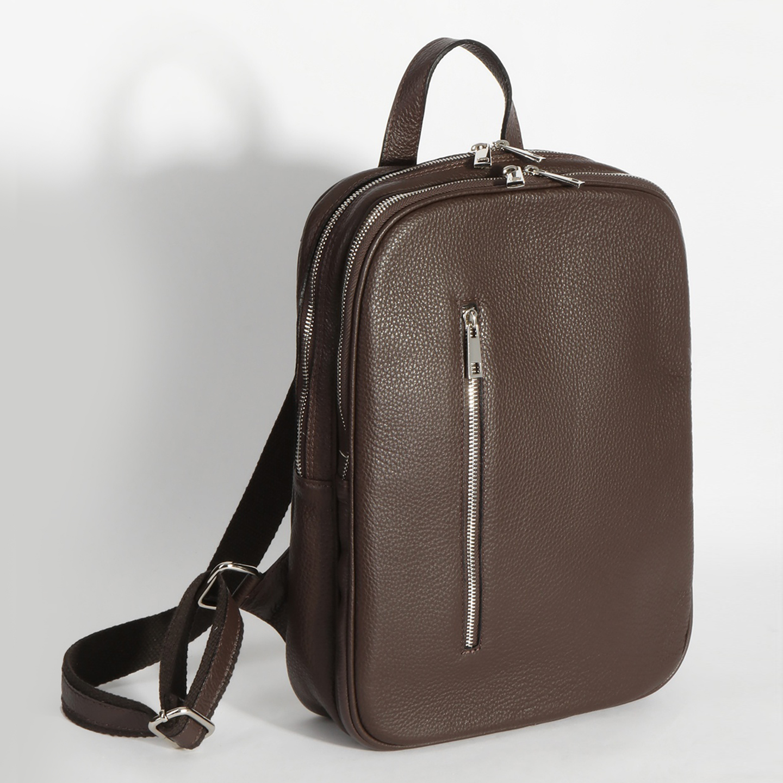 5b86f049bfdb Кожаный коричневый мужской рюкзак – Италия, коричневого цвета ...