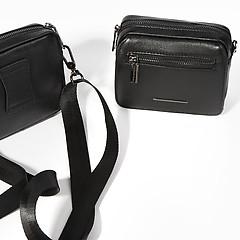 8c5e7e28d8aa ... Мужская поясная сумка-трансформер из черной кожи Alessandro Beato  89037-2-5820 black