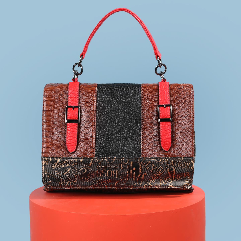 a536cd479e5b Классическая сумка Richezza 91224-1 black brown gold – Китай ...
