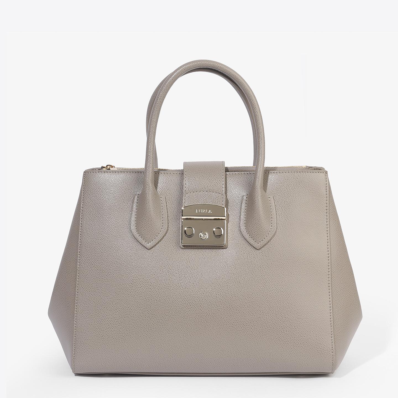 Пудровая кожаная сумка-тоут Metropolis среднего размера – Италия ... 491d981fcf6
