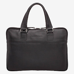77d50e39a7f6 ... Мужская деловая сумка из натуральной кожи черного цвета LAKESTONE  926008 black